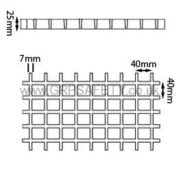 grp grating 404040mm2 GRP Moulded Grating
