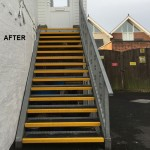 GRP STAIR TREAD COVERS ANTI SLIP AFTER