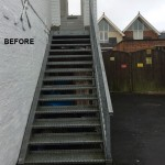 GRP STAIR TREAD COVERS ANTI SLIP BEFORE