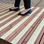grp decking strips application