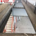 grp openriser bowmer before1 150x150 GRP Service Riser Grating & Supports