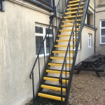 thornton college grp anti slip stair tread staircase after