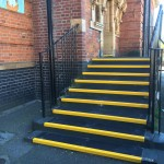 grp stair tread application primary school