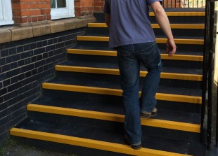 grp stair tread application primary school
